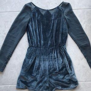 Blue velvet romper from BCBGENERATION